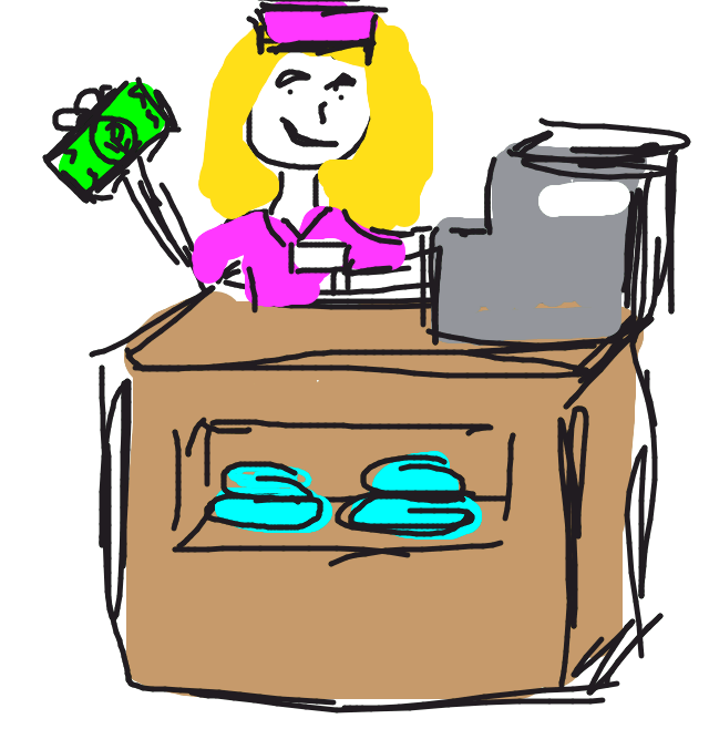 Cashier Cartoons: Let's Welcome